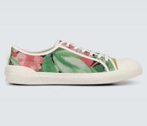 Bedruckte Sneakers aus Canvas