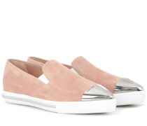 Slip-on-Sneakers aus Veloursleder