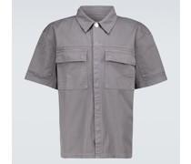 Kurzarm-Hemdjacke aus Twill