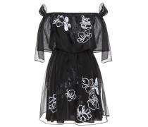 Verziertes Kleid aus Seide
