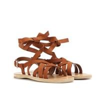 Gladiatoren-Sandalen aus Veloursleder
