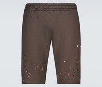 Shorts Vintage Paint aus Baumwoll-Jersey