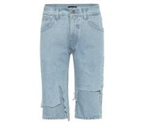 Jeansshorts mit Distressed-Details