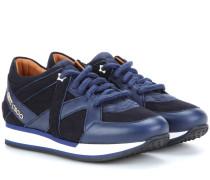 Ledersneakers London aus Leder und Filz