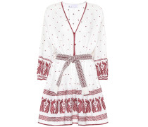 Besticktes Minikleid aus Leinen