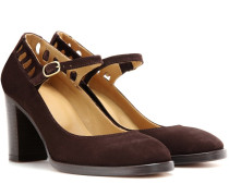 Mary-Jane-Pumps Heloise aus Veloursleder
