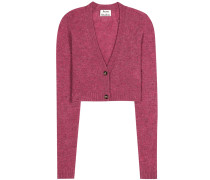 Cropped Cardigan Drew aus Wolle