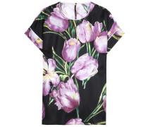 Seidentop mit Tulpenprint