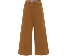 Hose aus Baumwolle mit weitem Bein
