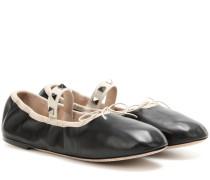 Garavani Ballerinas Rockstud Ballet aus Leder
