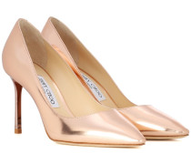 Pumps Romy 85 aus Metallic-Leder