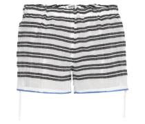 Gestreifte Shorts Selina aus Baumwolle