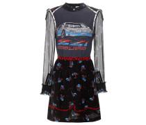 Bedrucktes Patchwork-Kleid