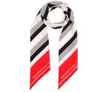Gestreifter Schal aus Seide
