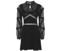 Kleid mit Spitze, Seidenchiffon und Organza