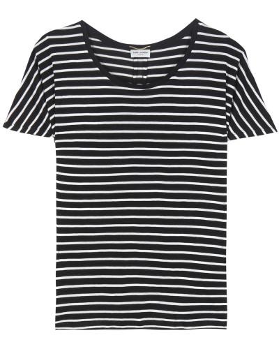 Gestreiftes T-Shirt aus Seide