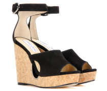 Wedges Neyo 120 aus Veloursleder