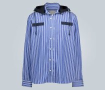 Gestreiftes Hemd mit Kapuze