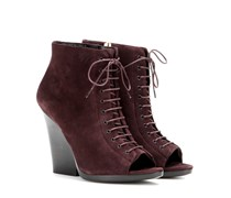 Open-Toe-Booties Virginia aus Veloursleder