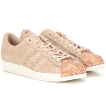 Sneakers Superstar 80s aus Veloursleder