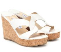 Wedge-Sandalen Atia 100 aus Leder