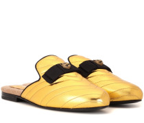 Slippers Princetown aus Matelassé-Satin