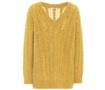 Oversize Pullover mit Alpaka und Wolle