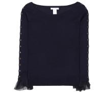 Off-Shoulder-Pullover aus Wolle und Seide