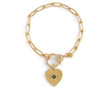 Armband Eye Heart aus 14kt Gelbgold mit Diamanten