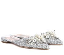 Verzierte Slippers mit Glitter