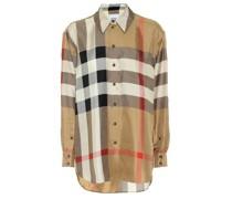 Bluse Vintage Check aus Seide