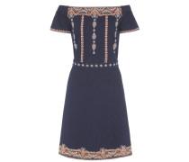 Besticktes Off-Shoulder-Kleid Nell aus Baumwolle