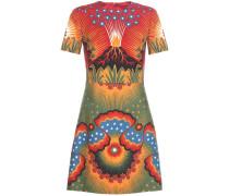 Kleid aus Schurwolle und Seide mit Print