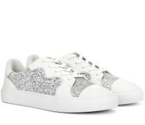 Sneakers Milo aus Leder und Glitter