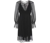 Kleid aus Seide mit Lochspitze