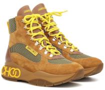 Sneakers Inca/F aus Veloursleder