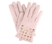 Handschuhe Rockstud aus Leder mit Cashmere-Futter