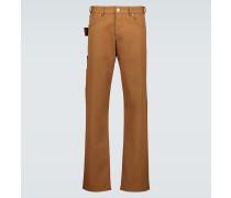 Straight Jeans mit Zierschlaufe