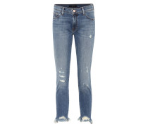 Distressed Cropped Jeans Sadey
