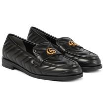 Loafers Double G aus Matelassé-Leder