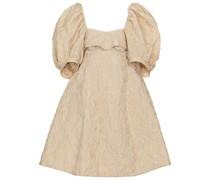Verziertes Minikleid aus Cloqué