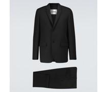 Einreihiger Anzug aus Wolle