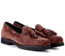 Loafers aus Veloursleder