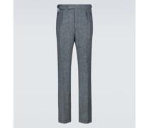 Hose mit weitem Bein aus Wolle