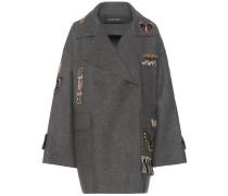 Verzierter Mantel aus Schurwolle