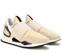 Sneakers Runner Elastic mit Veloursleder
