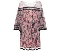 Bedrucktes Kleid aus Seidenkrepon