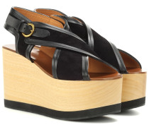 Wedges Zlova aus Veloursleder