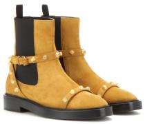 Verzierte Ankle Boots Giant aus Veloursleder