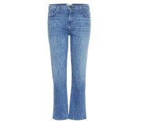 The Kick Mid-Rise Flared Jeans in Cropped-Länge